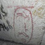 graffiti en la pirámide de Keops