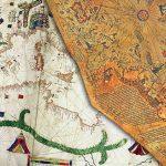 mapas antiguos de Canepa y mapa de Piris Reis