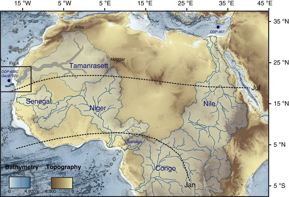 Sondeo satélite del sahara