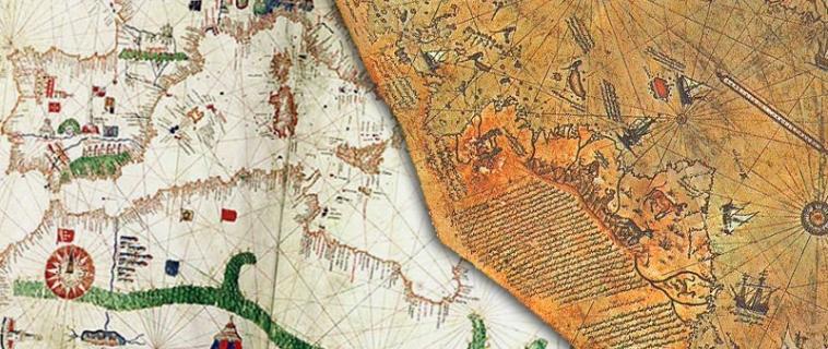Mapas con ríos en el Sahara y una Antártica sin hielo ¿de dónde provienen?